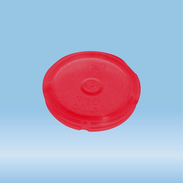 Colour-coded inserts, red, PP, suitable for screw caps 65.712.xxx