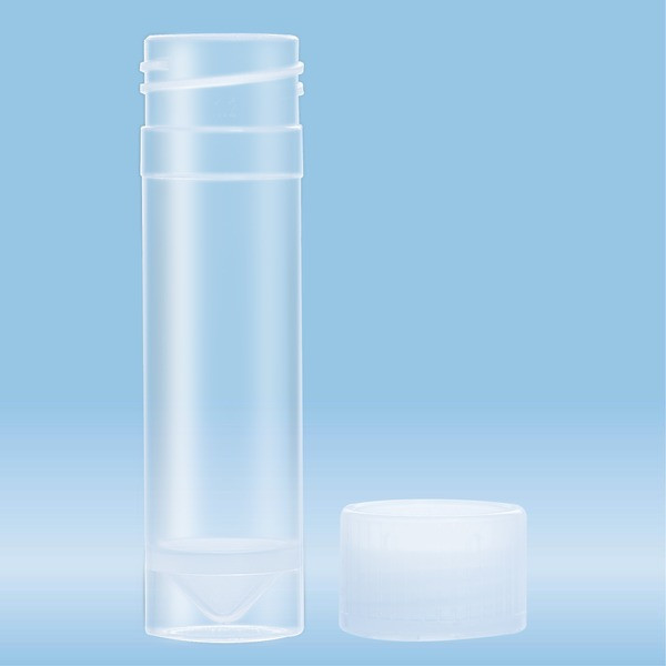 Screw cap tube, 5 ml, (LxØ): 57 x 15.3 mm, PP