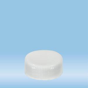 Screw cap, transparent, suitable for tubes Ø 28 mm
