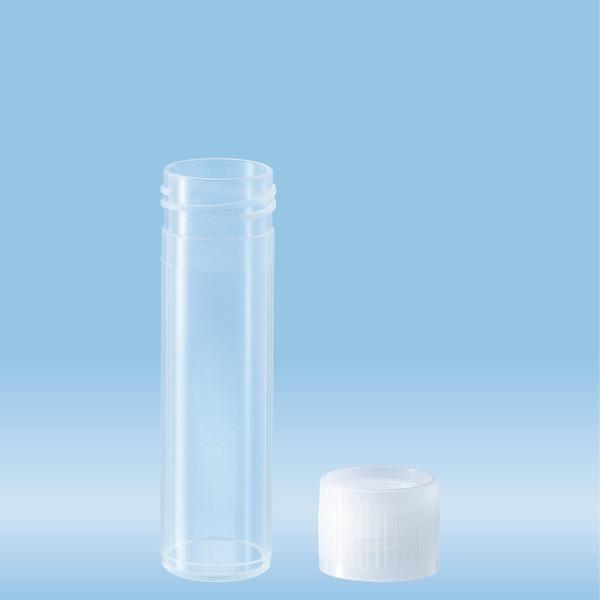 Screw cap tube, 8 ml, (LxØ): 57 x 16.5 mm, PP