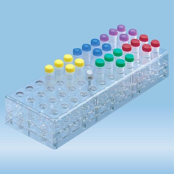 Rack, PC, format: 12 x 4, suitable for micro tubes 2 ml, Microvette®