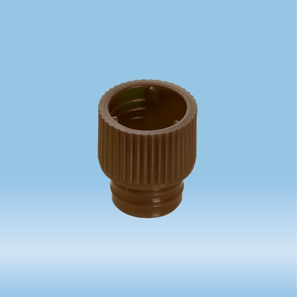 Push cap, brown, suitable for tubes Ø 12 mm