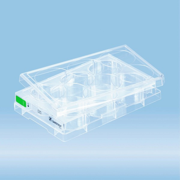 Cell culture plate, 6 well, surface: Suspension, flat base