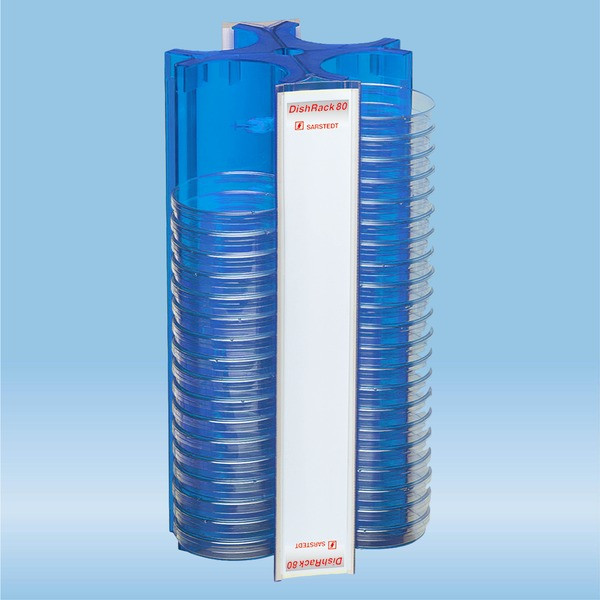 DishRack, height: 370 mm, blue, for 88 petri dishes with 92mm Ø