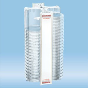 DishRack, height: 370 mm, transparent, for 88 petri dishes with 92mm diameter