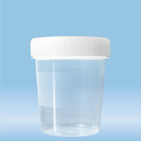 Container with screw cap, 100 ml, (ØxH): 57 x 76 mm, PP, transparent