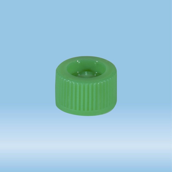 Screw cap, green, suitable for tubes 82 x 13 mm