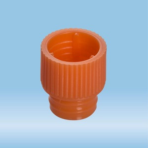 Push cap, orange, suitable for tubes Ø 12 mm