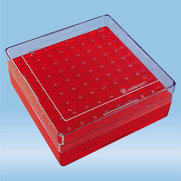 Cryobox, 132 x 132 x 53 mm, format: 9 x 9, for 81 collection tubes