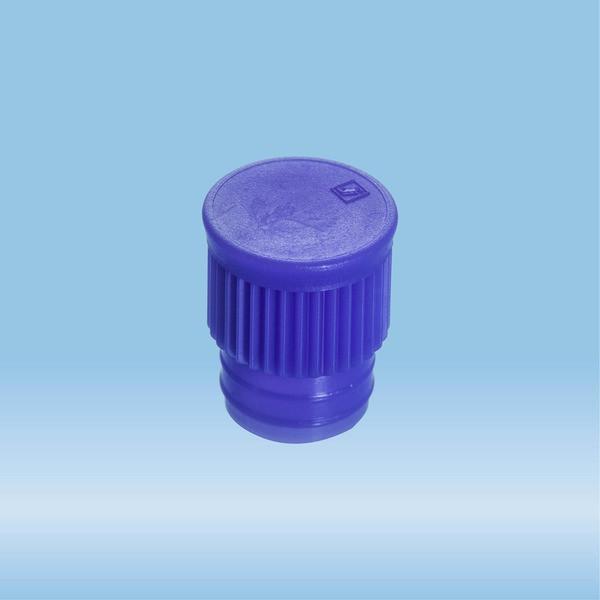 Push cap, blue, suitable for tubes Ø 15.7 mm