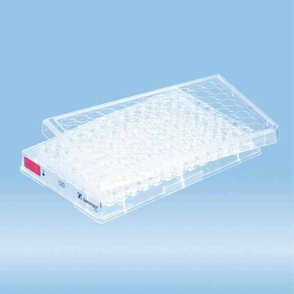 Cell culture plate, 96 well, surface: Standard, base shape: conical
