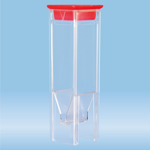 UV cuvette, 0.5 ml, (HxW): 45 x 12 mm, Special plastic, transparent, optical sides: 2