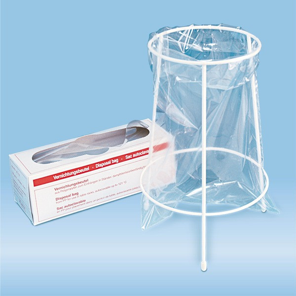 Table stand, for destruction bags 300 x 200 mm (item no 86.1197), epoxy resin, white