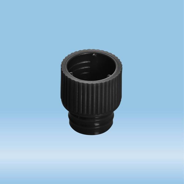 Push cap, black, suitable for tubes Ø 12 mm