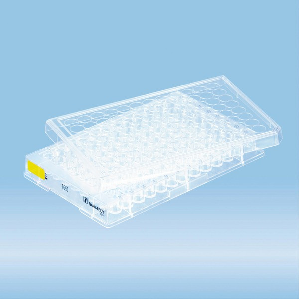 Cell culture plate, 96 well, surface: Cell+, flat base
