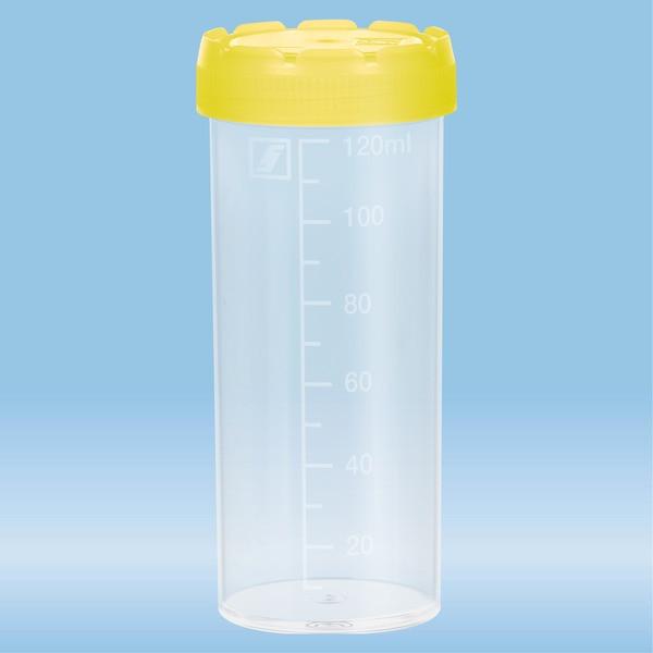 Multi-purpose container, 120 ml, (LxØ): 105 x 44 mm, graduated, PP