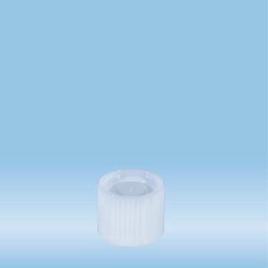Screw cap, transparent, suitable for tubes Ø 16-16.5 mm