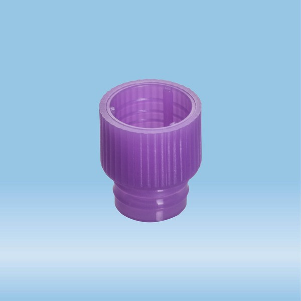 Push cap, violet, suitable for tubes Ø 12 mm