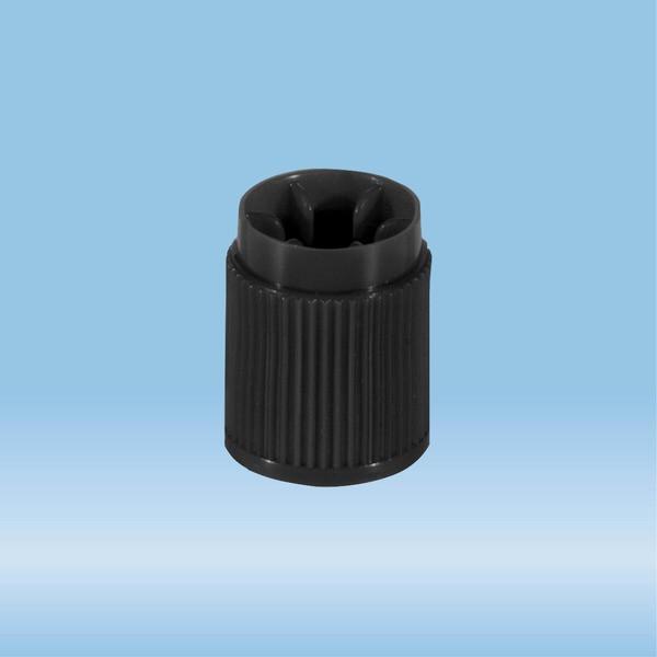 Screw cap, HD-PE, brown, for tubes Ø 13 mm