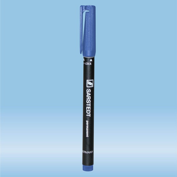 Felt marker, blue, waterproof