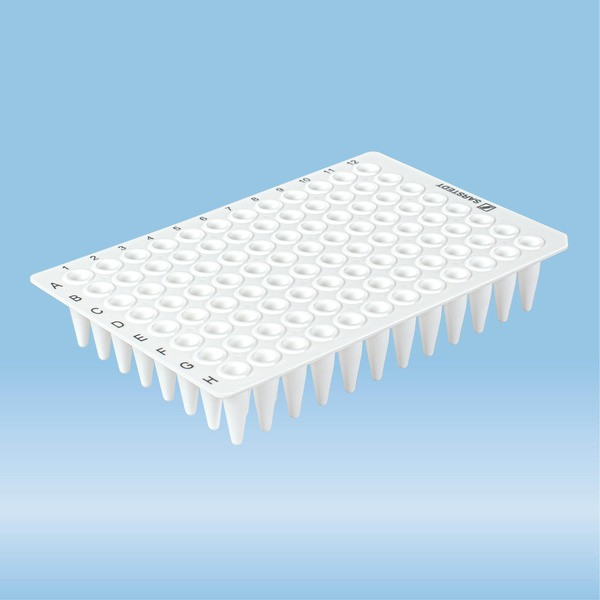 PCRplate without skirt, 96 well, white, High Profile, 200 µl, PCR Performance Tested, PP