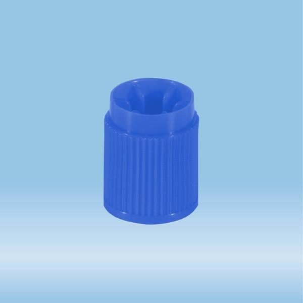 Screw cap, HD-PE, blue, for tubes Ø 13 mm