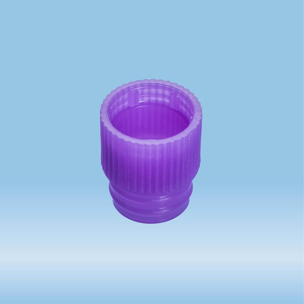 Push cap, violet, suitable for tubes Ø 13 mm