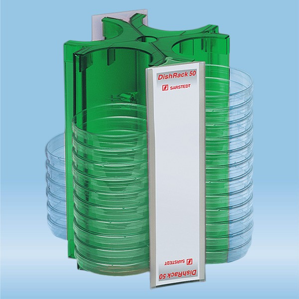 DishRack, height: 240 mm, green, for 52 petri dishes with 92mm Ø