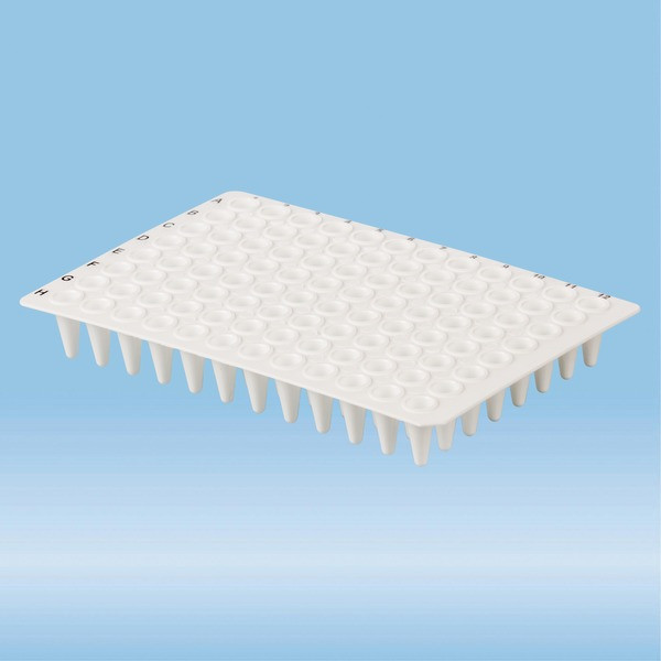 PCR plate without skirt, 96 well, white, Low-Profile, 100 µl, PCR Performance Tested, PP