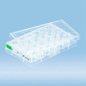 Cell culture plate, 24 well, surface: Suspension, flat base
