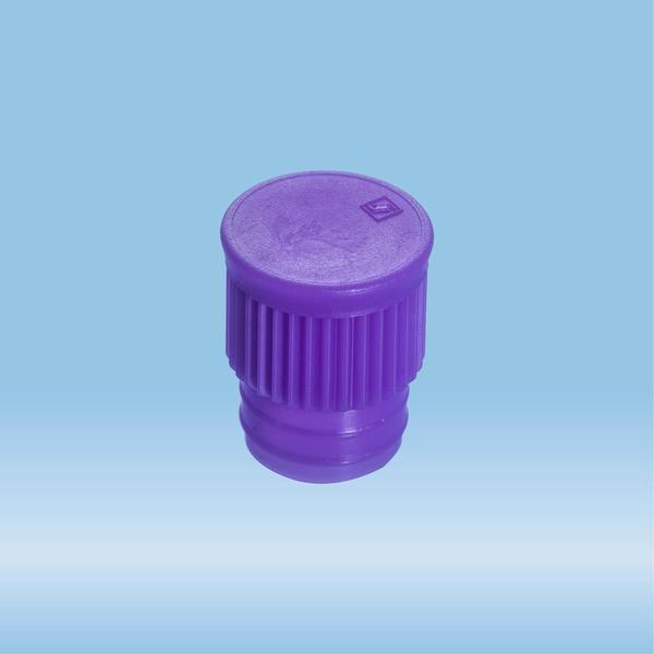Push cap, violet, suitable for tubes Ø 15.7 mm