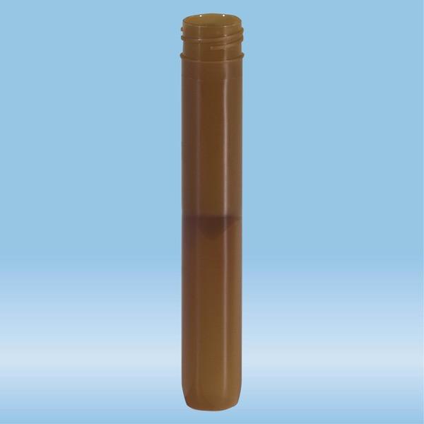 Screw cap tube, 5 ml, (LxØ): 92 x 15.3 mm, rounded false bottom, PP, without cap, 100 piece(s)/bag