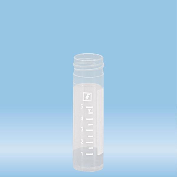 Screw cap tube, 8 ml, (LxØ): 57 x 16.5 mm, PP, with print