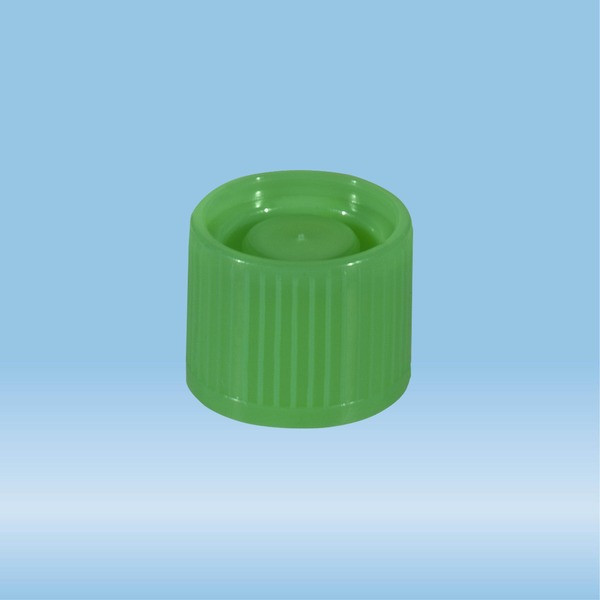 Screw cap, green, suitable for tubes Ø 16-16.5 mm