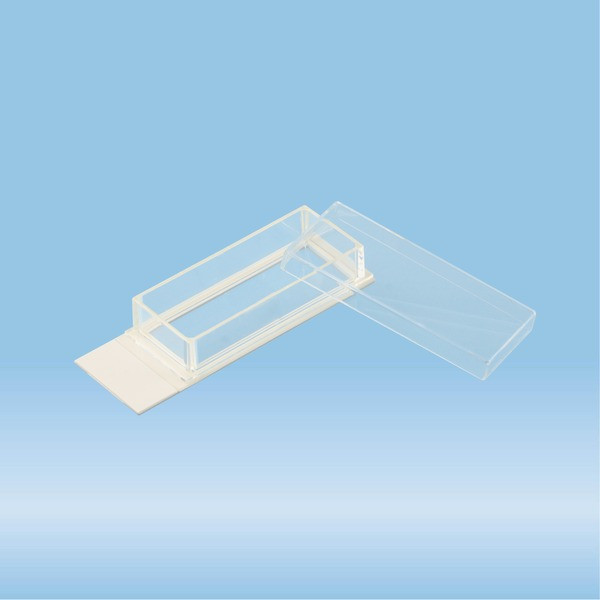 x-well cell culture chamber, 1-well, on lumox® slide, removable frame