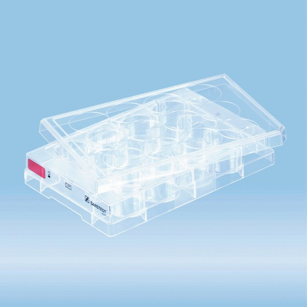Cell culture plate, 12 well, surface: Standard, flat base