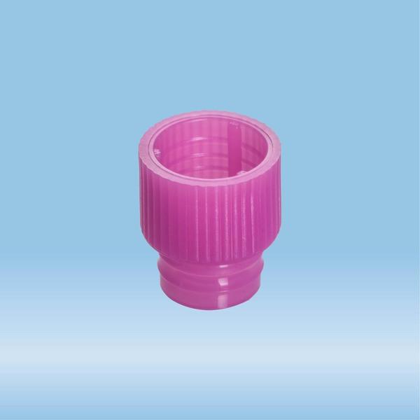 Push cap, pink, suitable for tubes Ø 13 mm
