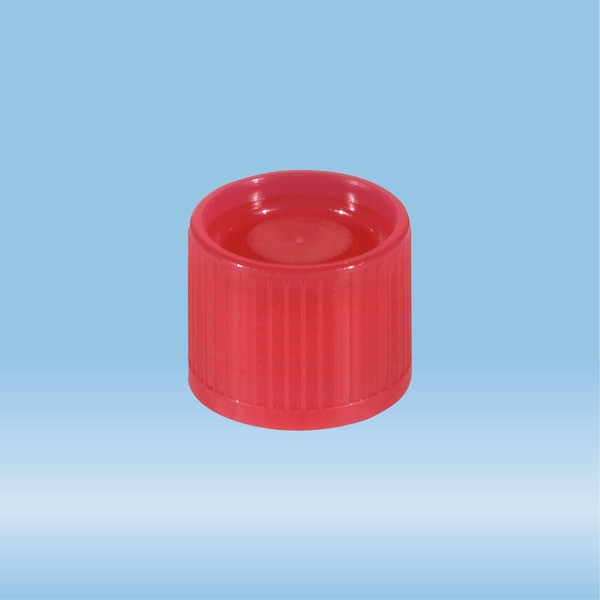 Screw cap, red, suitable for tubes Ø 16-16.5 mm