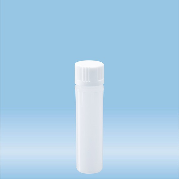 Mini vial, white