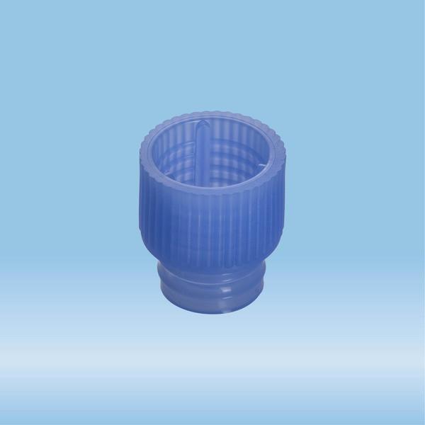 Push cap, blue, suitable for tubes Ø 12 mm