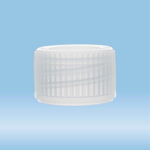 Screw cap, natural, suitable for tubes Ø 11 mm