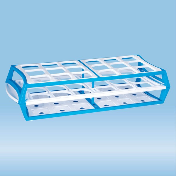 Rack, PP, format: 6 x 3, suitable for 50 ml centrifuge tubes