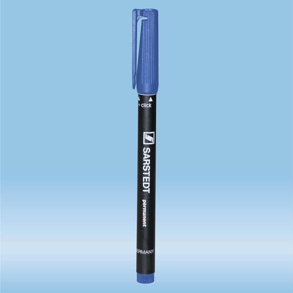 Felt marker, blue, waterproof