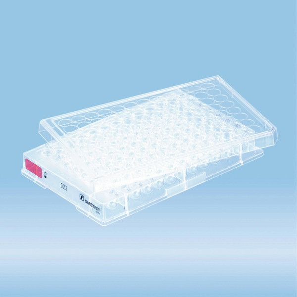 Cell culture plate, 96 well, surface: Standard, round base