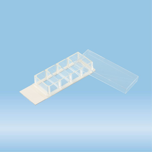 x-well cell culture chamber, 4-well, on lumox® slide, removable frame