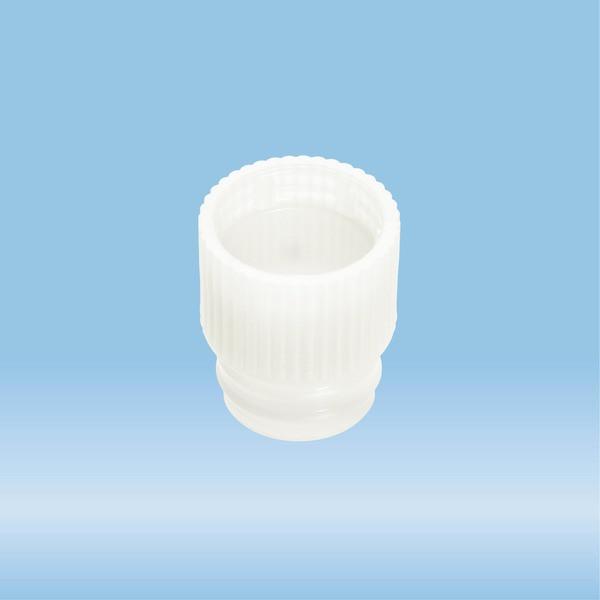 Push cap, white, suitable for tubes Ø 13 mm