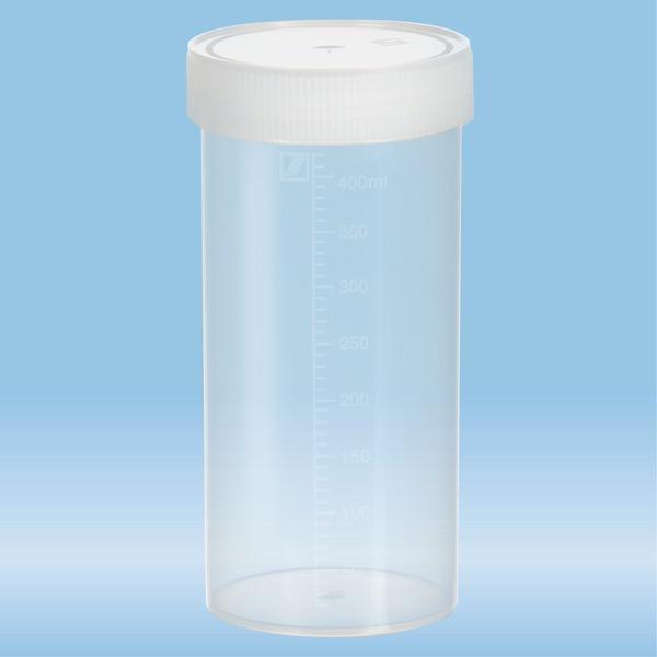 Multi-purpose container, 500 ml, (ØxH): 70 x 150 mm, graduated, PP