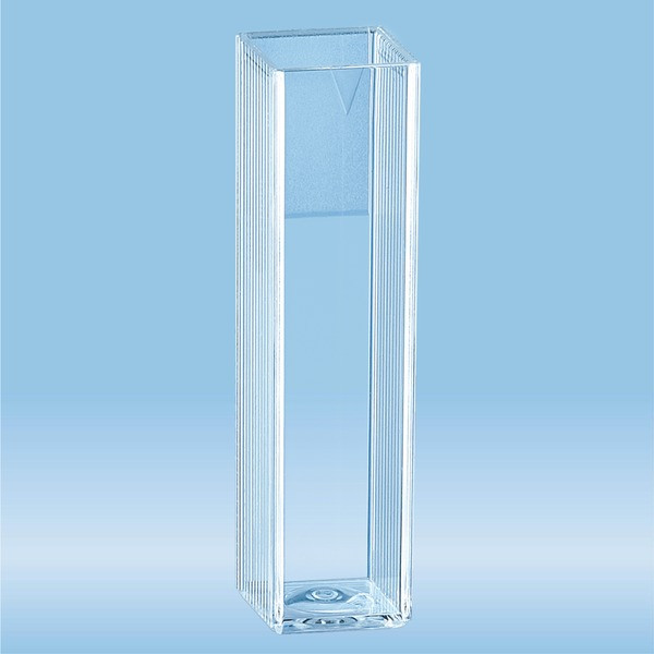 Cuvette, 4 ml, (HxW): 45 x 12 mm, PMMA, transparent, optical sides: 2