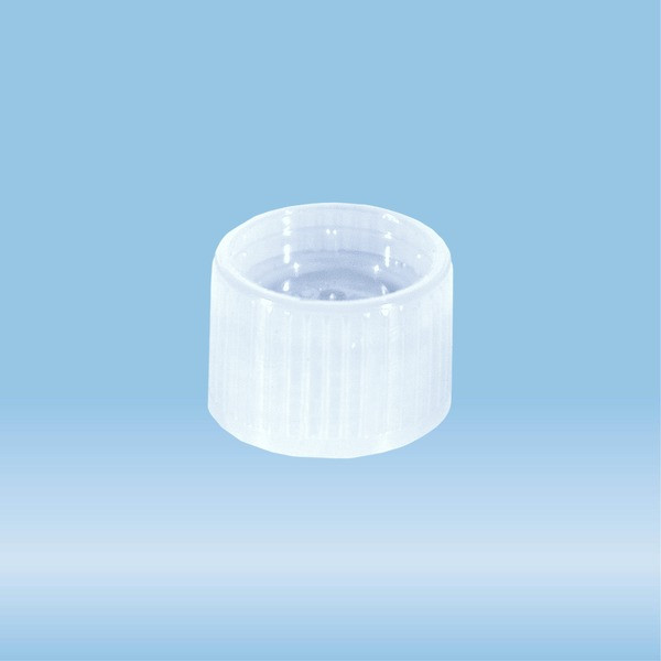 Screw cap, transparent, suitable for tubes Ø 15.3 mm