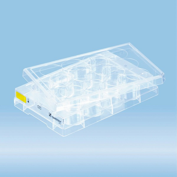 Cell culture plate, 12 well, surface: Cell+, flat base